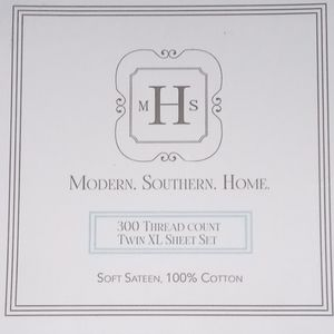 NWT Modern Southern Home Twin XL Sheet Set